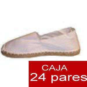 Para Hombres - Alpargatas cerradas HOMBRE color blanco Tallaje 40-46 -caja 24 pares (TIENDA)