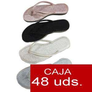 Sandalias y Chanclas - Chanclas lisas mujer Mod-1 Colores Surtidos - Caja de 48 pares