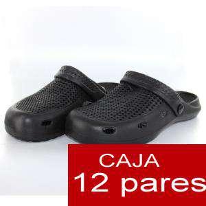 Zuecos tipo Crocs - Zuecos tipo Crocs HOMBRE - Negro - CAJA DE 12 UDS (Últimas Unidades)