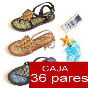 Alta Calidad - Sandalias EGIPTO en 3 Colores - Caja 36 pares (OFERTA VERANO)
