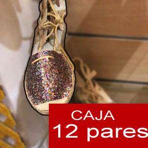 Alta Calidad - Sandalias Fiesta MULTIGLITTER - Caja de 12 pares (Ref.: Multiglitter 15C0759) (Últimas Unidades)