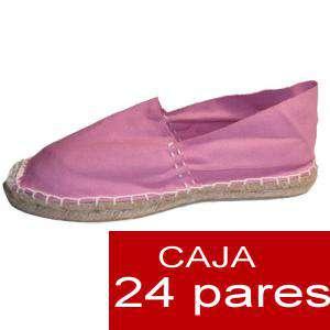 Hombre Cerradas - Alpargatas cerradas HOMBRE color rosa Tallaje 40-46 -caja 24 pares (TIENDA)