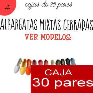 Imagen Mixtas (Hombre y Mujer) Alpargatas MIXTAS ( Mujer color lisos - Hombre color estampados ) caja 30 pares (Últimas Unidades)