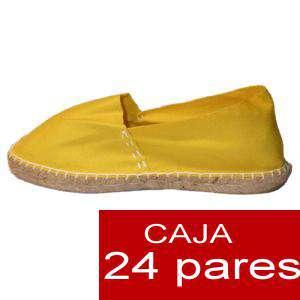 Mujer Cerradas - Alpargatas cerradas MUJER color Amarillo - caja 24 pares (Últimas Unidades)