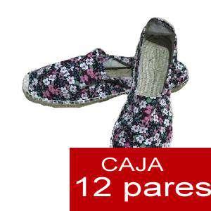 Mujer Estampadas - Alpargatas estampadas FLORES ESPECIALES 3 Caja 12 pares - OFERTA ULTIMAS CAJAS (Últimas Unidades) (