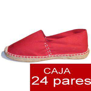 Para Hombres - Alpargatas cerradas HOMBRE color rojoTallaje 40-46 -caja 24 pares (TIENDA)