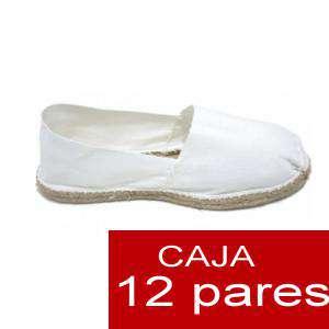 Para Niño - Alpargatas Niño color BLANCO LOTE de 12 uds (tallas 28-34)