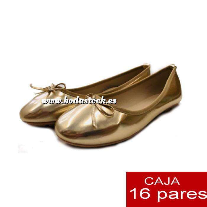 Imagen Alta Calidad Manoletinas 808 DORADAS - Caja 16 pares (Últimas Unidades)