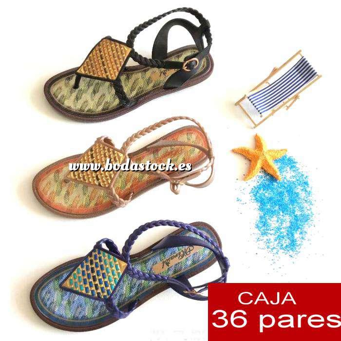 Imagen Alta Calidad Sandalias EGIPTO en 3 Colores - Caja 36 pares (OFERTA VERANO)