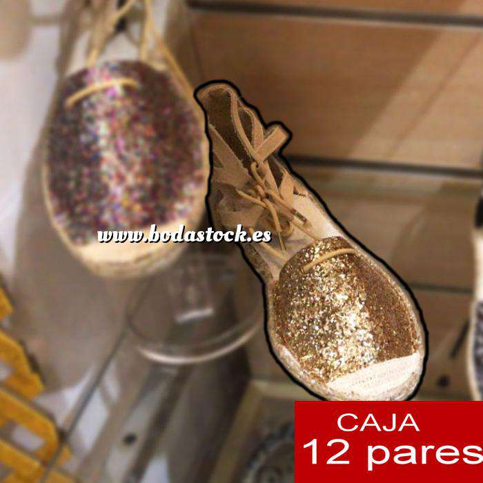 Imagen Alta Calidad Sandalias Fiesta Glitter DORADO - Caja de 12 pares (Ref.: Oro glitter 15C0759) (Últimas Unidades)