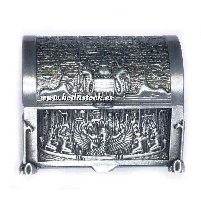 Imagen Bandejas y Cofres Cofre Metal Decoración Egipto 6,5x4,7x5 (Últimas Unidades)