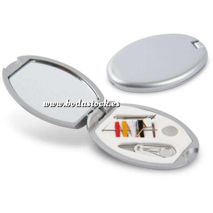 Imagen Baño y aromas Mini Costurero con espejo GRIS