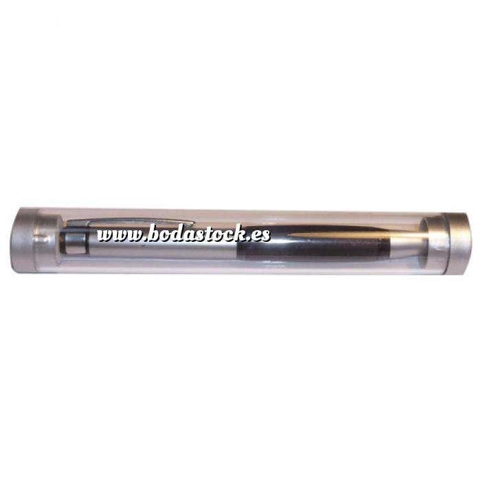 Imagen Boligrafos Bolígrafo en tubo transparente