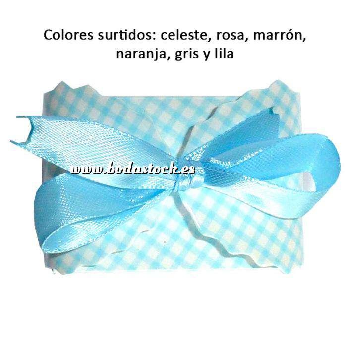 Imagen Cajitas para regalo Cajita Automontable cuadros rectangular - Colores surtidos