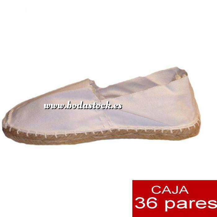 Imagen Cerradas hombre Alpargatas cerradas HOMBRE color Blanco caja 36 pares