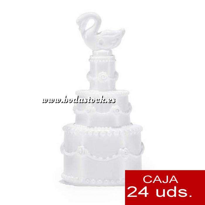 Imagen Detalles para la ceremonia Pompero Pastel con cisne Caja de 24 unidades