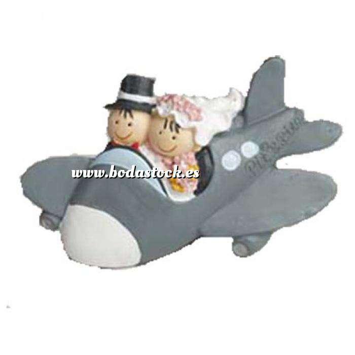 Imagen Genérico Imán novios en avión Pit-Pita