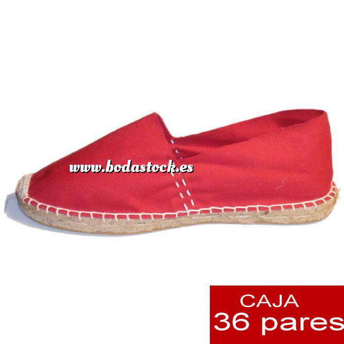 Imagen Hombre Cerradas Alpargatas cerradas HOMBRE color Rojo caja 36 pares (Últimas unidades)