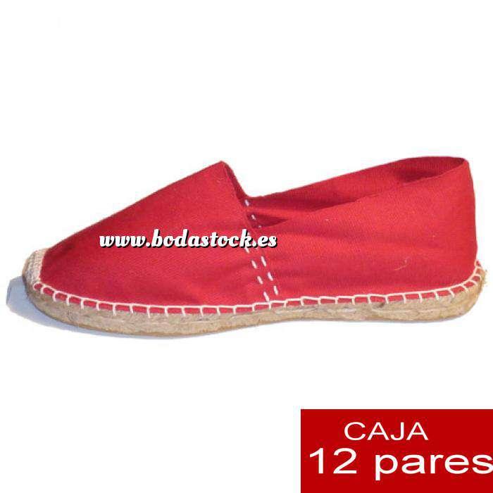 Imagen Para Hombres Alpargatas cerradas HOMBRE color rojo Tallaje 41-46 caja 12 pares