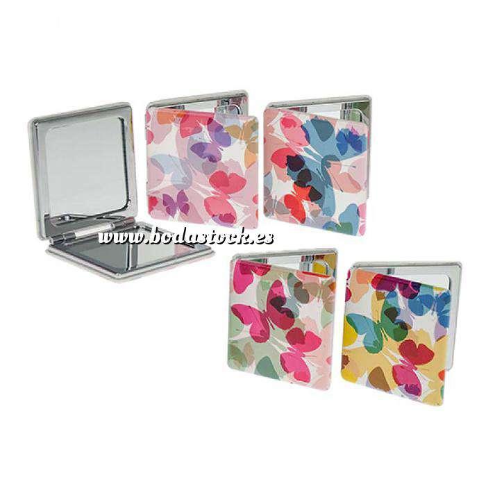 Imagen Prácticos mujer Espejo Cuadrado Mariposas Design