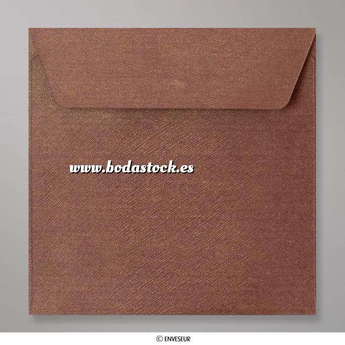 Imagen Sobres Cuadrados Sobre Marron Textura Brillante (CEB155BO)