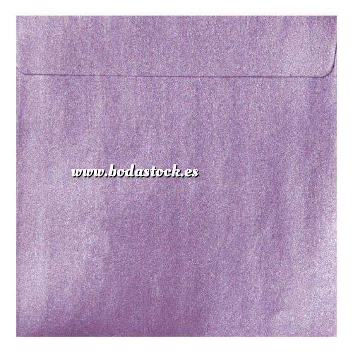 Imagen Sobres Cuadrados Sobre Perlado Lila Cuadrado (Lavanda)