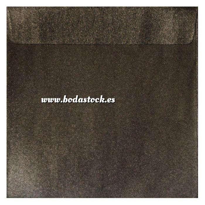 Imagen Sobres Cuadrados Sobre Perlado marrón Cuadrado (Bronce)