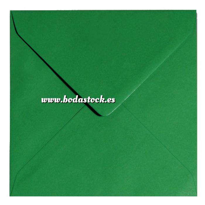 Imagen Sobres Cuadrados Sobre verde oscuro Cuadrado - Verde Navidad