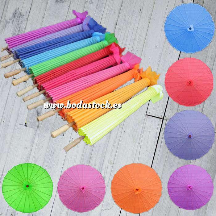 Imagen Sombrillas Sombrilla Japonesa SIN dibujos y Colores Surtidos NO INCLUYE BLANCO