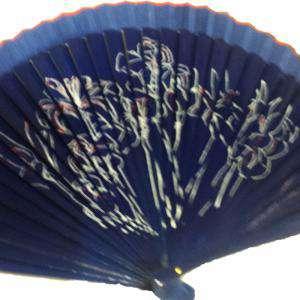 Imagen Abanico de Flores Abanicos Lisos 23 cm pintado flores LIRIO (Últimas Unidades)