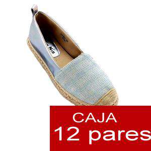 Alta Calidad - Alpargata bicolor rayas finas - Caja de 12 pares (Últimas Unidades)