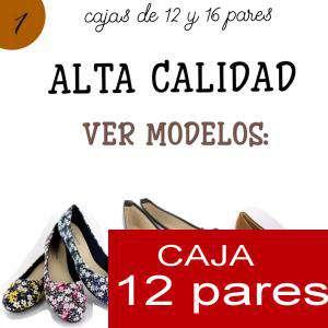 Imagen Alta Calidad Manoletinas Charol con lazo NEGRO - Caja 12 pares (Últimas Unidades)