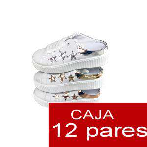 Alta Calidad - Zapatos Fashion ESTRELLITAS - Caja 12 pares (Últimas Unidades)
