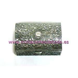 Bandejas y Cofres - Cofre Metal Rectangular 8x5.3x3.5