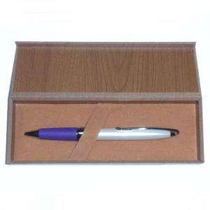 Boligrafos - Boligrafo Blanco y Morado en caja de madera (Últimas Unidades)