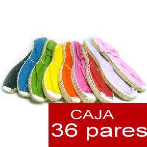 Cerradas hombre - Alpargatas cerradas HOMBRE colores caja 36 pares (Últimas Unidades)