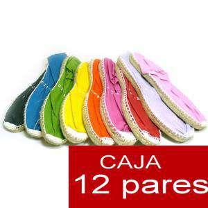 Cerradas mujer - Alpargatas cerradas MUJER colores surtidos - 12 pares