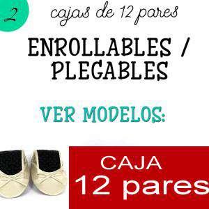 Imagen Enrollables/Plegables Bailarinas Enrollables Modelo ESPECIAL - AZUL - Lote de 12 pares (OFERTA VERANO)