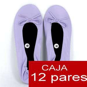 Imagen Enrollables/Plegables Bailarinas Enrollables Modelo ESPECIAL - LILA PASTEL - Lote de 12 pares (OFERTA INVIERNO)