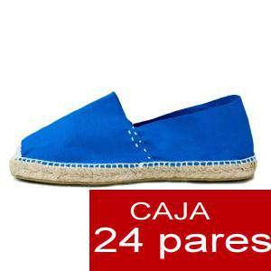 Mujer Cerradas - Alpargatas cerradas MUJER color Azul Royal - caja 24 pares (Últimas Unidades)