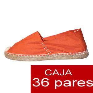 Mujer Cerradas - Alpargatas cerradas MUJER color Naranja - caja 36 pares