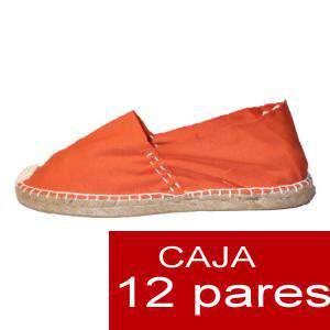 Mujer Cerradas - Alpargatas cerradas MUJER color naranja- caja 12 pares