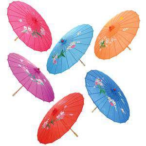 Sombrillas - Sombrilla Japonesa CON dibujos y Colores Surtidos