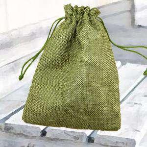 Bolsas de Yute 13x18 cm - Bolsa de Yute Verde Pistacho (Claro ó Clorofila) 13x18 capacidad 12x15 cms.