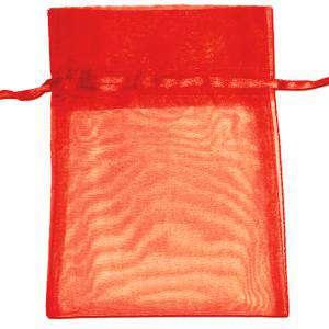 Tamaño 22x32 cms. - Bolsa de organza Roja 22x32 capacidad 21x30 cms.