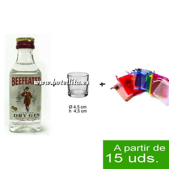 Imagen EN KITS DE REGALO Pack Beefeater 4cl más chupito más Bolsa de Organza