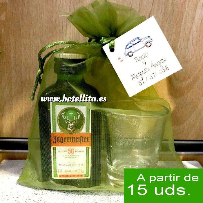 Imagen EN KITS DE REGALO Pack Jagermeister 4cl Cristal más chupito más Bolsa de Organza
