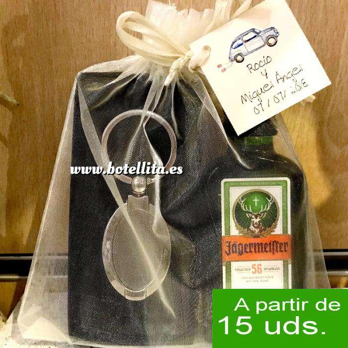 Imagen EN KITS DE REGALO Pack Jagermeister 4cl Cristal más llavero más Bolsa de Organza