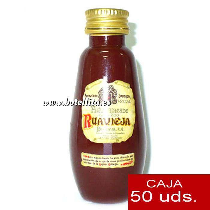 Imagen Licores, orujos y crema Aguardiente de orujo Ruavieja 5cl CAJA DE 50 UDS