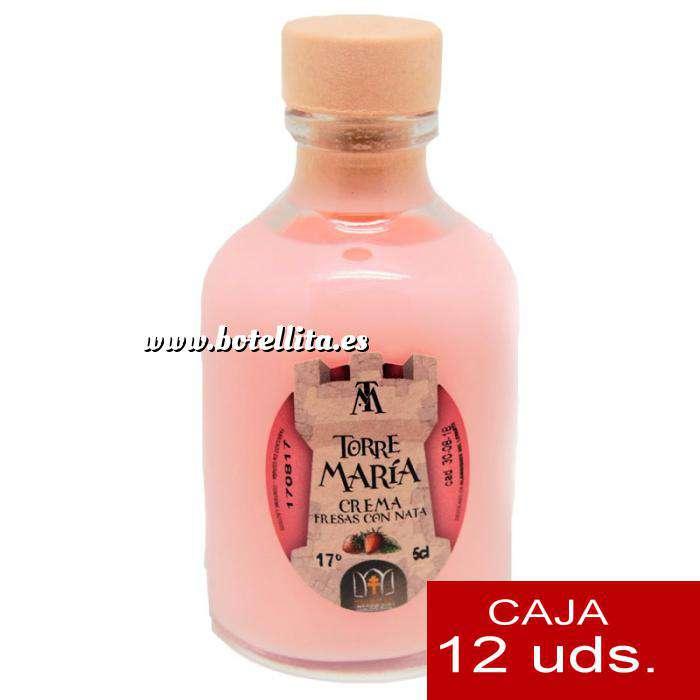 Imagen Licores, orujos y crema Crema de Fresas y Nata ROCÍO 50 (Torre María) - CAJA DE 12 UDS
